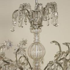 Monumental Italian Cut Glass and Crystal Sixteen Light Chandelier - 525454