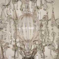 Monumental Italian Cut Glass and Crystal Sixteen Light Chandelier - 525457