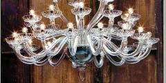 Monumental Italian Triple Tier 30 Arm Clear Murano Venetian Glass Chandelier - 1844219