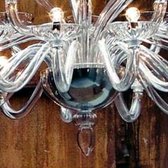 Monumental Italian Triple Tier 30 Arm Clear Murano Venetian Glass Chandelier - 1844220