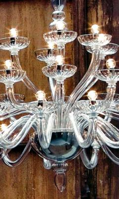 Monumental Italian Triple Tier 30 Arm Clear Murano Venetian Glass Chandelier - 1844223