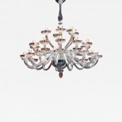 Monumental Italian Triple Tier 30 Arm Clear Murano Venetian Glass Chandelier - 1845767