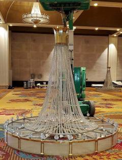Monumental Midcentury Art Deco Style Ballroom Chandelier with Provenance - 1713347
