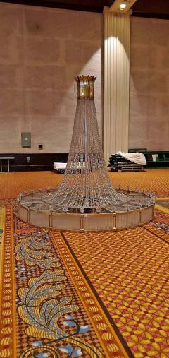 Monumental Midcentury Art Deco Style Ballroom Chandelier with Provenance - 1713354