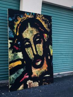 Monumental Midcentury Wool Tapestry after Georges Rouault - 1421359