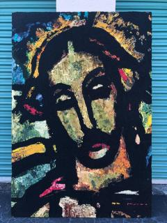 Monumental Midcentury Wool Tapestry after Georges Rouault - 1421360