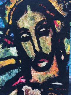 Monumental Midcentury Wool Tapestry after Georges Rouault - 1421367