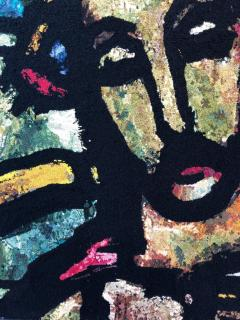 Monumental Midcentury Wool Tapestry after Georges Rouault - 1421368