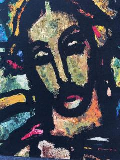 Monumental Midcentury Wool Tapestry after Georges Rouault - 1421370