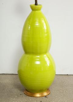 Monumental Pair of Mid Century Ceramic Double Gourd Lamps - 1704516