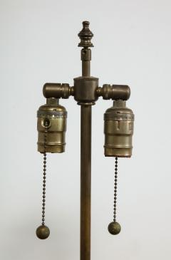 Monumental Pair of Mid Century Ceramic Double Gourd Lamps - 1704525