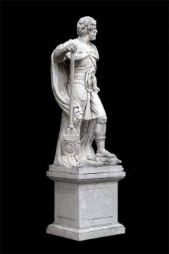 Monumental Pair of White Marble Statue of Classical Roman Figures - 634209