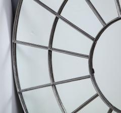 Monumental Round Gilt Cast Iron Mirror - 2023780
