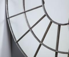 Monumental Round Gilt Cast Iron Mirror - 2023781