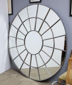 Monumental Round Gilt Cast Iron Mirror - 2023782