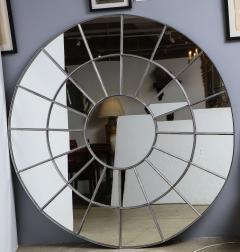 Monumental Round Gilt Cast Iron Mirror - 2023785