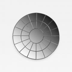 Monumental Round Gilt Cast Iron Mirror - 2024440
