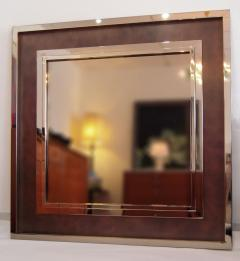 Monumental Stainless Steel Copper Wall Mirror - 683608