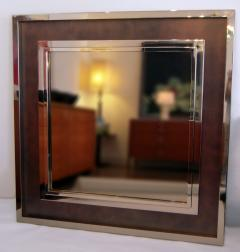 Monumental Stainless Steel Copper Wall Mirror - 683609