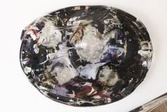 Monumental Vintage XX Century Large Murano Glass Sculptural Table Blob signed - 1399170
