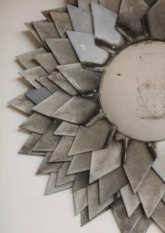 Monumental Zinc Flower Petal Mirror - 1155349