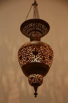 Moorish Brass Hanging Light Fixture - 338478