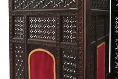 Moorish Carved Teak 3 Fold Screen - 1379800