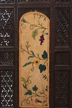 Moorish Carved Teak 3 Fold Screen - 1379802