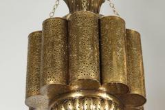 Moorish Moroccan Brass Chandelier - 339099