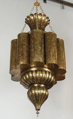 Moorish Moroccan Brass Chandelier - 339103