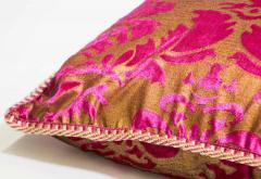 Moorish Oversized Pink and Gold Floor Pillow Cushion - 1829905