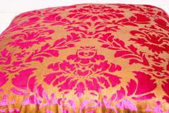 Moorish Oversized Pink and Gold Floor Pillow Cushion - 1829907