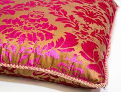 Moorish Oversized Pink and Gold Floor Pillow Cushion - 1829908