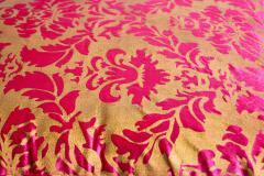 Moorish Oversized Pink and Gold Floor Pillow Cushion - 1829911