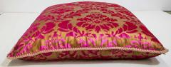 Moorish Oversized Pink and Gold Floor Pillow Cushion - 1829917