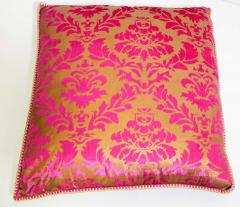 Moorish Oversized Pink and Gold Floor Pillow Cushion - 1829920