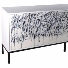Morgan Clayhall White Graffiti Cabinet - 1354714