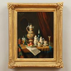 Moritz Mansfield TABLE TOP STILL LIFE WITH URN TEA SERVICE AND VARIOUS ARTICLES - 1908475