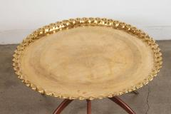 Moroccan Brass Tray Table On Spider Folding Stand   368712
