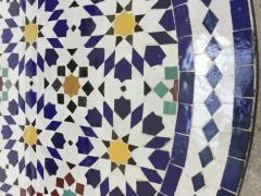 Moroccan Outdoor Mosaic Tile Table from Fez in Traditional Moorish Design - 1337916