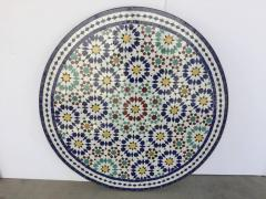 Moroccan Outdoor Mosaic Tile Table from Fez in Traditional Moorish Design - 1337918