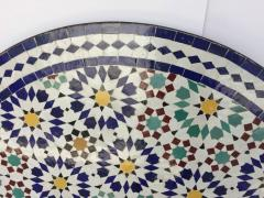 Moroccan Outdoor Mosaic Tile Table from Fez in Traditional Moorish Design - 1337924