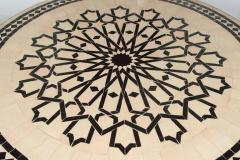Moroccan Outdoor Round Mosaic Tile Dining Table on Iron Base 47 in  - 1324108