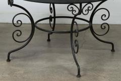 Moroccan Outdoor Round Mosaic Tile Dining Table on Iron Base 47 in  - 1324109