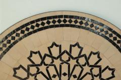 Moroccan Outdoor Round Mosaic Tile Dining Table on Iron Base 47 in  - 1324121