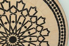 Moroccan Outdoor Round Mosaic Tile Dining Table on Iron Base 47 in  - 1324122