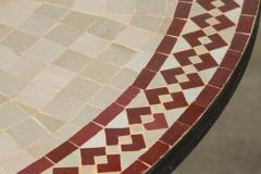 Moroccan Outdoor Round Mosaic Tile Dining Table on Iron Base 47 in  - 1324130
