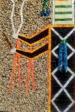 Mosaic Art Work Based on Navajo Sand Painting of their Diety Father Sky - 1289568