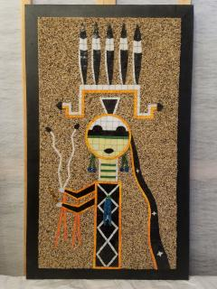 Mosaic Art Work Based on Navajo Sand Painting of their Diety Father Sky - 1289570
