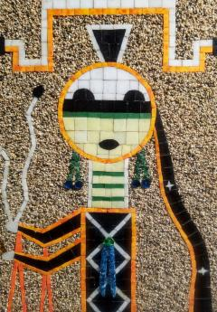 Mosaic Art Work Based on Navajo Sand Painting of their Diety Father Sky - 1289574